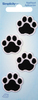 Black Cat Paws - Wrights Iron-On Appliques 4/Pkg Iron-On Appliques are the perfect decorative addition to a wearable garment or a craft project. They come in a variety of sizes and styles. Great for towels, blankets, pillows, purses, scrapbooks, backpacks, aprons, jackets, pants, t-shirts, costumes, baby clothes and so much more! This package contains four 1x1 inch iron-on appliques. Imported.