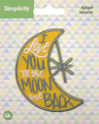 I Love You To The Moon And Back - Wrights Baby Iron-On Applique
