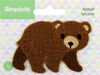 Bear - Wrights Baby Sew-On Applique Sew-On Appliques are the perfect decorative addition to a wearable garment or a craft project. They come in a variety of sizes and styles. Great for towels, blankets, pillows, purses, scrapbooks, backpacks, aprons, jackets, pants, t-shirts, costumes, baby clothes and so much more! This package contains one 2.75x2 inch sew-on applique. Imported.