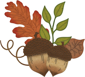 "Acorns & Leaves .76"" To 3.48"" - Cheery Lynn Designs Die"