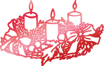 "Weathered Candles 2.1""X1.3"" - Couture Creations Let Every Day Be Christmas Hotfoil Stamp"