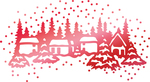 """Winter Town 2.4""""X1.3"""" - Couture Creations Let Every Day Be Christmas Hotfoil Stamp"""