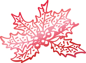 """Christmas Holly 2.2""""X1.6"""" - Couture Creations Let Every Day Be Christmas Hotfoil Stamp"""