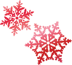 "Snowflakes 1.7""X1.2"" - Couture Creations Let Every Day Be Christmas Hotfoil Stamp"