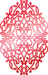 """Christmas Background 2.5""""X1.6"""" - Couture Creations Let Every Day Be Christmas Hotfoil Stamp"""