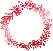 """Wild Wreath Frame 3.5""""X3.3"""" - Couture Creations Let Every Day Be Christmas Hotfoil Stamp"""