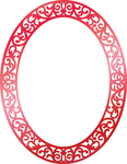 "Ornate Christmas Frame 3.5""X3.3"" - Couture Creations Let Every Day Be Christmas Hotfoil Stamp"
