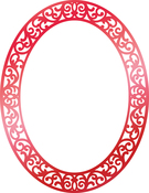 """Ornate Christmas Frame 3.5""""X3.3"""" - Couture Creations Let Every Day Be Christmas Hotfoil Stamp"""