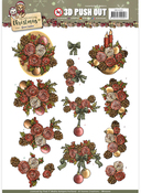 Pinecones & Floral - Find It Yvonne Creations Celebrate Christmas Punchout Sheet