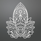 "Henna Motif - Ultimate Crafts Bohemian Bouquet Die 2.3""X2.9"""