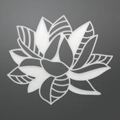 "Crosshatch Bloom - Ultimate Crafts Bohemian Bouquet Die 2.5""X2.1"""