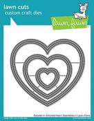 Outside In Stitched Heart Stackable Dies - Lawn Fawn