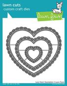 Lacy Heart Stackable Dies - Lawn Fawn