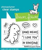 RAWR Clear Stamps - Lawn Fawn