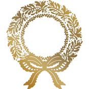 Christmas Wreath Couture Creations Hotfoil Plate - Anna Griffin
