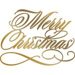 Merry Christmas Couture Creations Hotfoil Plate - Anna Griffin