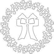 Wreath & Bow Penny Black Creative Dies