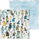 Children Play Paper - Winter Playground - Bo Bunny