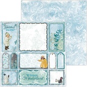 Snowball Play Paper - Winter Playground - Bo Bunny
