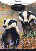 Ch.5 British Wildlife Badger - Pollyanna Pickering Sketchbook A4 Die-Cut Decoupage Card Kit