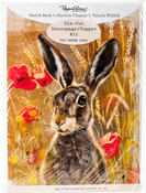 Ch.5 British Wildlife Brown Hare - Pollyanna Pickering Sketchbook A4 Die-Cut Decoupage Card Kit