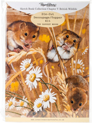 Ch.5 British Wildlife Harvest Mouse - Pollyanna Pickering Sketchbook A4 Die-Cut Decoupage Card Kit
