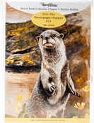 Ch.5 British Wildlife Otter - Pollyanna Pickering Sketchbook A4 Die-Cut Decoupage Card Kit