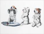 "Scrap Tatty & Pip - Cecil Aldin Counted Cross Stitch Kit 10""X5"""