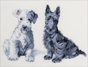 "Molly & Evie - Cecil Aldin Counted Cross Stitch Kit 9.25""X6.5"""
