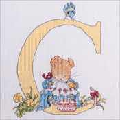 "C - Seraphina Counted Cross Stitch Kit 6""X5"""