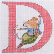 "D - Seraphina Counted Cross Stitch Kit 5""X5"""