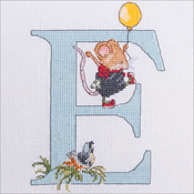 "E - Seraphina Counted Cross Stitch Kit 6""X4"""