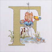 "F - Seraphina Counted Cross Stitch Kit 5.5""X5"""