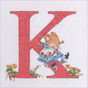 "K - Seraphina Counted Cross Stitch Kit 4.75""X6"""