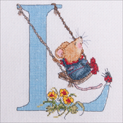 "L - Seraphina Counted Cross Stitch Kit 5.5""X4.25"""