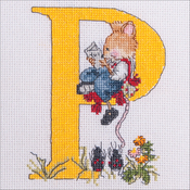 "P - Seraphina Counted Cross Stitch Kit 5""X4"""