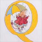 "Q - Seraphina Counted Cross Stitch Kit 6.25""X4.75"""