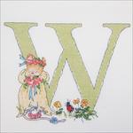 """W - Seraphina Counted Cross Stitch Kit 6.75""""X5.25"""""""