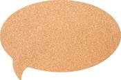 """Bubble - Silhouette Cork Board 11.81""""X17.71"""""""