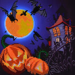 "Haunt Me (House) - Diamond Dotz Diamond Embroidery Facet Art Kit 12.5""X12.5"""