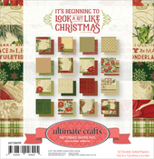 "Beginning To Look A Lot Like Christmas - Ultimate Crafts Double-Sided Paper Pad 6""X6"" 32/Pkg"