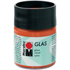 Orange - Marabu Glas 50ml A luminous interplay of colors on glass. Vivid, transparent colors. Good flow for even application. Dishwasher-safe without firing. Simply paint and leave to dry for 3 days. Water-based, odorless and non-fading. This package contains 50ml of glass paint. Conforms to ASTM D 4236. Comes in a variety of colors. Each sold separately. Imported.