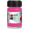 Rose Pink - Marabu Glas 15ml A luminous interplay of colors on glass. Vivid, transparent colors. Good flow for even application. Dishwasher-safe without firing. Simply paint and leave to dry for 3 days. Water-based, odorless and non-fading. This package contains 15ml of glass paint. Conforms to ASTM D 4236. Comes in a variety of colors. Each sold separately. Imported.