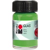 Light Green - Marabu Glas 15ml A luminous interplay of colors on glass. Vivid, transparent colors. Good flow for even application. Dishwasher-safe without firing. Simply paint and leave to dry for 3 days. Water-based, odorless and non-fading. This package contains 15ml of glass paint. Conforms to ASTM D 4236. Comes in a variety of colors. Each sold separately. Imported.