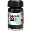 Black - Marabu Glas 15ml A luminous interplay of colors on glass. Vivid, transparent colors. Good flow for even application. Dishwasher-safe without firing. Simply paint and leave to dry for 3 days. Water-based, odorless and non-fading. This package contains 15ml of glass paint. Conforms to ASTM D 4236. Comes in a variety of colors. Each sold separately. Imported.