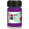 Amethyst - Marabu Glas 15ml A luminous interplay of colors on glass. Vivid, transparent colors. Good flow for even application. Dishwasher-safe without firing. Simply paint and leave to dry for 3 days. Water-based, odorless and non-fading. This package contains 15ml of glass paint. Conforms to ASTM D 4236. Comes in a variety of colors. Each sold separately. Imported.