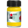 Sunshine Yellow - Marabu Glas 15ml A luminous interplay of colors on glass. Vivid, transparent colors. Good flow for even application. Dishwasher-safe without firing. Simply paint and leave to dry for 3 days. Water-based, odorless and non-fading. This package contains 15ml of glass paint. Conforms to ASTM D 4236. Comes in a variety of colors. Each sold separately. Imported.