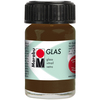 Cocoa - Marabu Glas 15ml A luminous interplay of colors on glass. Vivid, transparent colors. Good flow for even application. Dishwasher-safe without firing. Simply paint and leave to dry for 3 days. Water-based, odorless and non-fading. This package contains 15ml of glass paint. Conforms to ASTM D 4236. Comes in a variety of colors. Each sold separately. Imported.