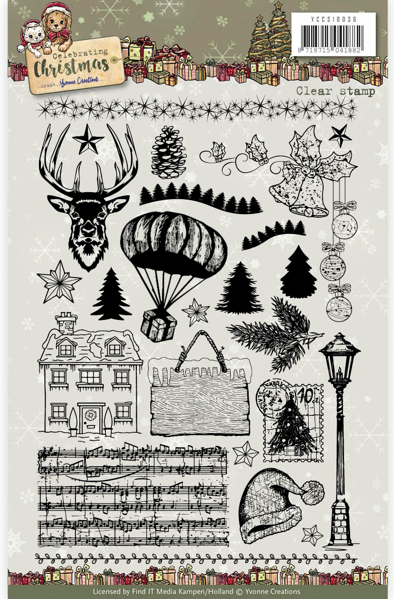 Celebrating Christmas - Find It Yvonne Creations Celebrating Christmas Clear Stamp