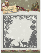 Christmas Scene Square Frame - Find It Yvonne Creations Celebrating Christmas Die